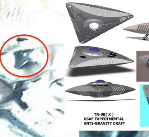В Антарктиде обнаружен спрятанный треугольный корабль пришельцев