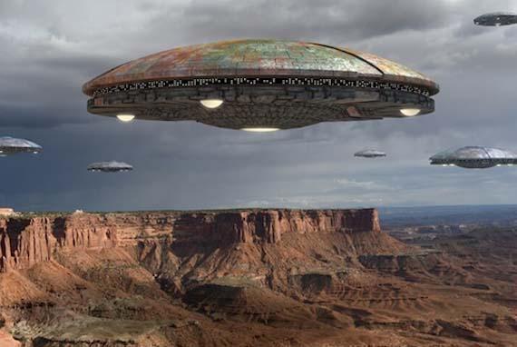 Встречи с огромными по размерам НЛО