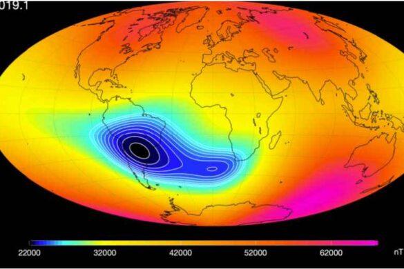 НАСА следит за растущим разрывом в магнитном поле Земли